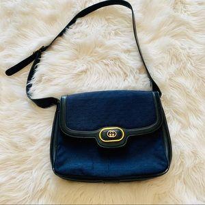 Vintage Navy Blue Gucci Purse